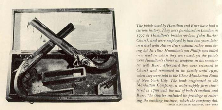 Pistols used by Hamilton and Burr