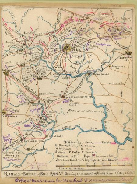 Plan of 2nd battle of Bull Run, Va.