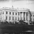 President's house (i.e. White House), Washington, D.C., showing south side, probably taken in winter