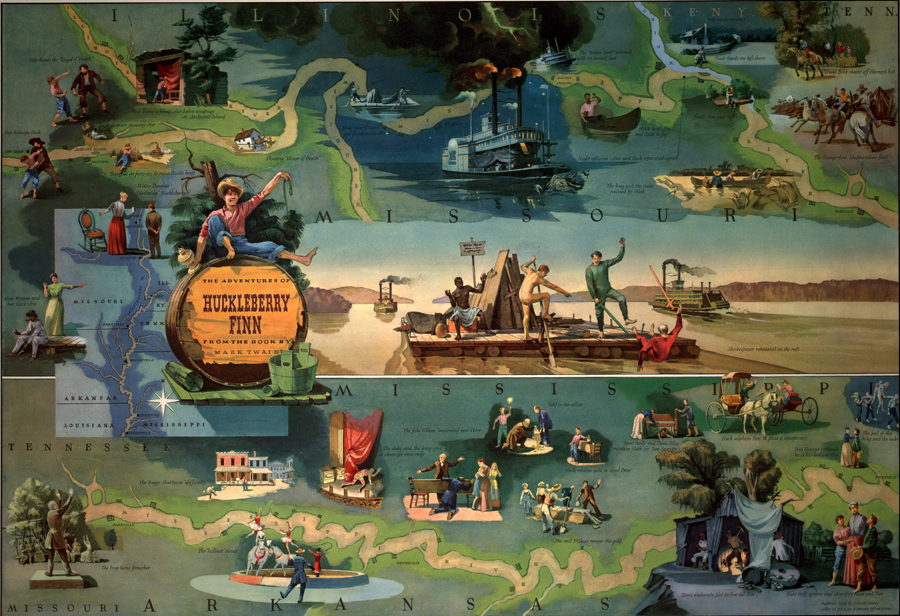 the life in the southern mississippi in the adventures of huckleberry finn by mark twain The life that shaped mark twain's anti twain began the adventures of huckleberry finn he raised his children and began to rethink his southern.