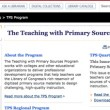 Primary Source Learning: TPS Illinois Partners Teaching Resources