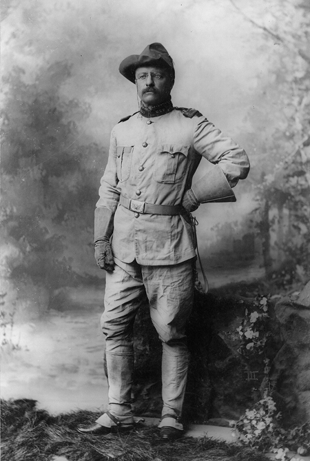 Colonel Theodore Roosevelt, in uniform, full-length portrait, standing, facing slightly left