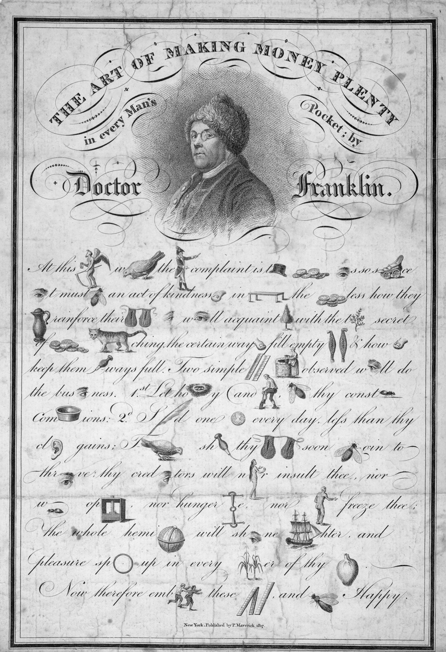The art of making money plenty in every man's pocket by Doctor Franklin