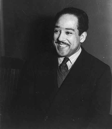 Langston Hughes, half-length portrait, facing left