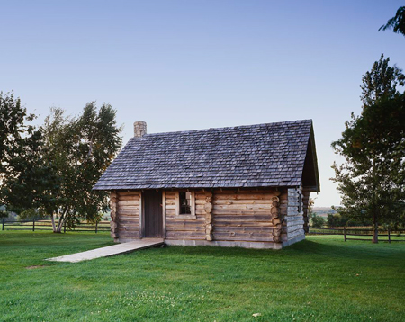 "Replica of ""The Little House in the Big Woods"" at the Laura Ingalls Wilder House, Pepin, Wisconsin"