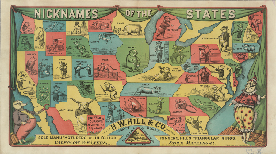 Nicknames of the states.