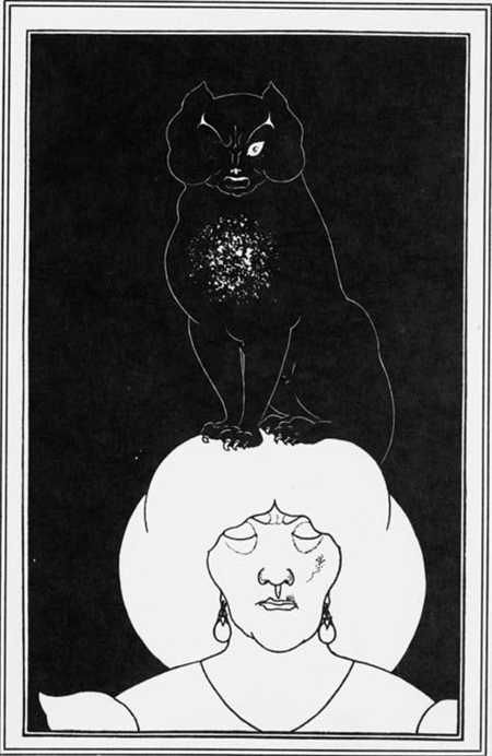 The black cat, illustration for the Tales of Edgar Allan Poe