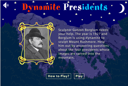 Dynamite Presidents game on America's Library