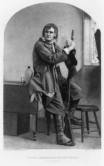 Joseph Jefferson as the beloved character, Rip Van Winkle