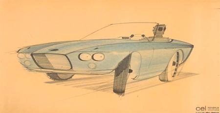 "Preliminary study 6 for Studebaker ""Avanti"" automobile"