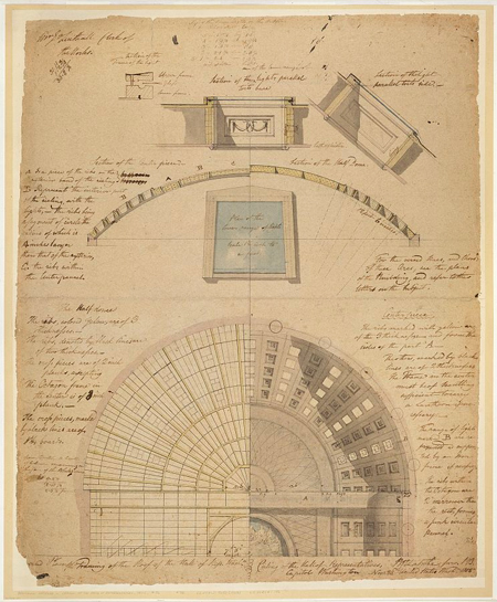 United States Capitol, Washington, D.C. Framing & ceiling plan - Hall of Representatives