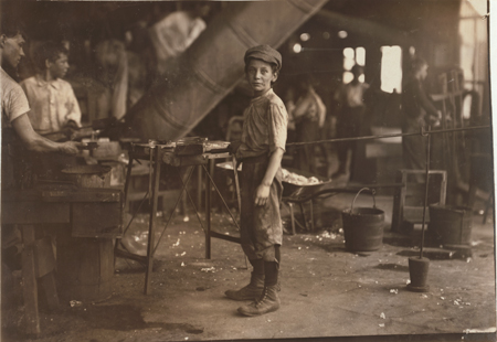 """Carrying-in"" boy in Alexandria Glass Factory, Alexandria, Va. Works on day shift one week and night shift next week."