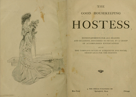Title page: The Good housekeeping hostess