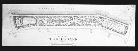 Charlesbank, plan of 1892 (Olmsted drawing)