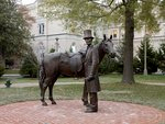 Abraham Lincoln and his horse