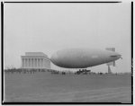 Army blimp at Lincoln Memorial