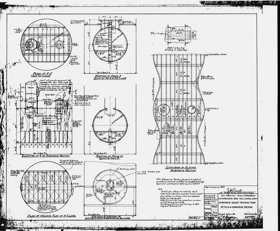 DETAILS OF SUBMARINE SECTION