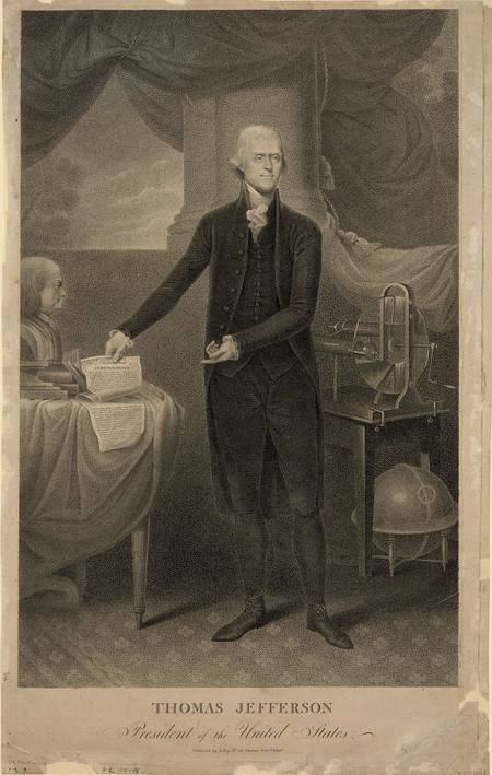 Thomas Jefferson, President of the United States