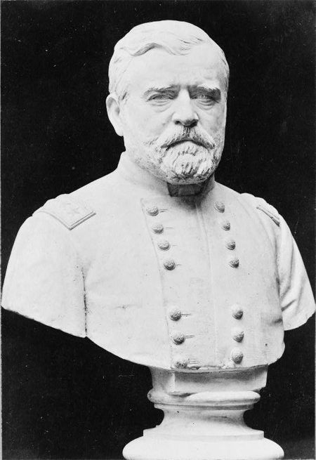 Ulysses S. Grant, bust sculpture, facing slightly right