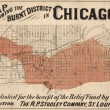 Map Showing The Burnt District In Chicago : Published For The Benefit Of The Relief Fund
