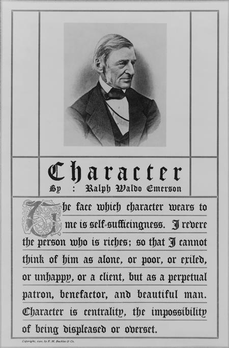 Character by Ralph Waldo Emerson