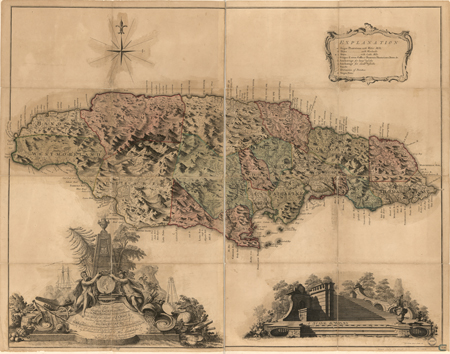 This Map Of The Island Of Jamaica