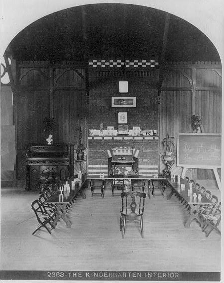 The Kindergarten interior c1876