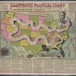 Illustrated political chart, a cartoon of American politics and the Tapeworm Party