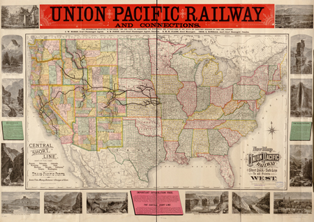 Today in History: Transcontinental Railroad Completed ... on central pacific leviathan, chesapeake and ohio railway map, los angeles and salt lake railroad, union pacific colorado route map, union pacific railroad, chicago rapid transit map, northern pacific railway, western railroads map, modoc northern railroad, denver and rio grande western railroad, uintah railway, central pacific jupiter, comstock lode, canadian national railway map, leland stanford, maine central railroad map, sego, utah, michigan central railroad map, jay gould, northern pacific railway map, central pacific train, union pacific system map, northern pacific route map, jersey central railroad map, new york central railroad map, western pacific railroad, golden spike, penn central railroad map, central pacific coast costa rica map, texas central railway map, central illinois map, collis p. huntington, oregon short line railroad, union pacific california map, atchison, topeka and santa fe railway, great western railway of colorado, great northern railway, southern pacific railroad, first transcontinental railroad,