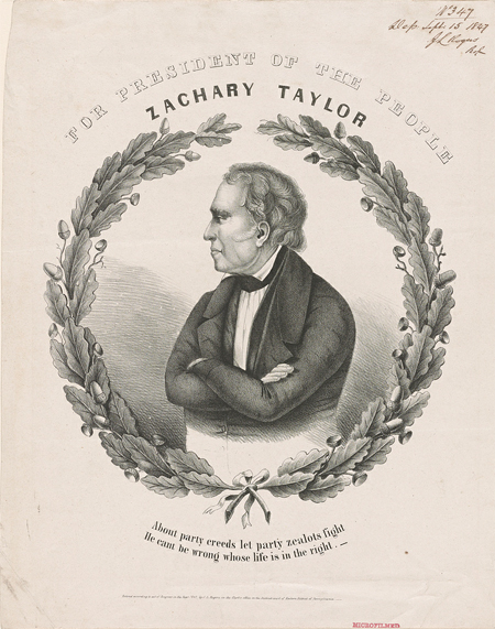 For president of the people, Zachary Taylor