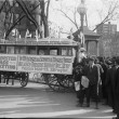 WOMAN SUFFRAGE. SUFFRAGE BUS