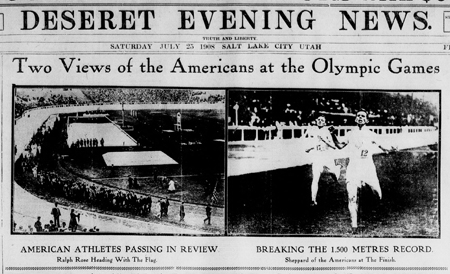 Two Views of the Americans at the Olympic Games (1908)