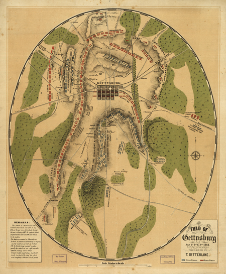 Field of Gettysburg, July 1st, 2nd & 3rd, 1863