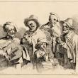 Featured Image: Cinq musiciens ambulant