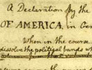 """Original Rough draught"" of the Declaration of Independence"