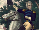 Andrew Jackson with the Tennessee forces on the Hickory Ground