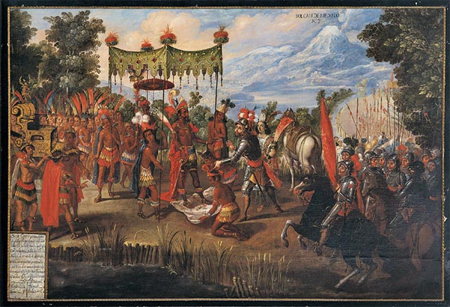 The Meeting of Cortés and Montezuma