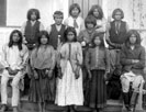 Chiricahua Apaches as they arrived at Carlisle