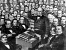 Daniel Webster addressing the United States Senate