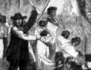 Slave auction at the south