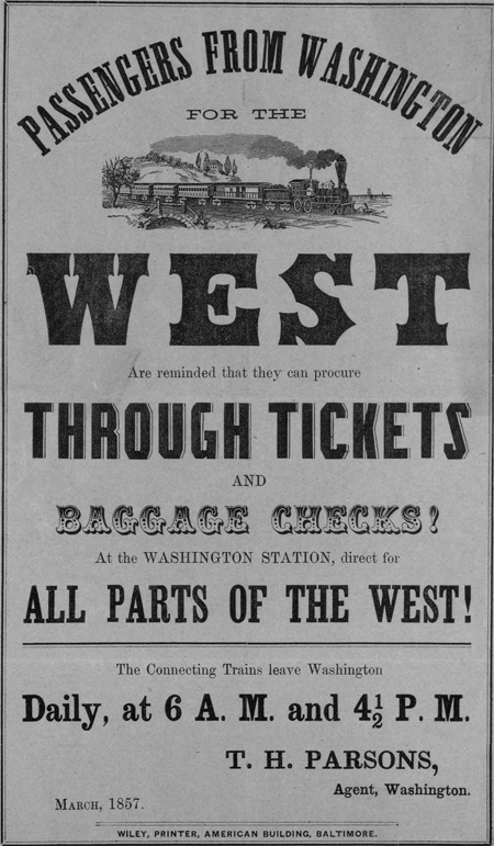 Passengers from Washington for the West