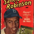 Front cover of Jackie Robinson comic book