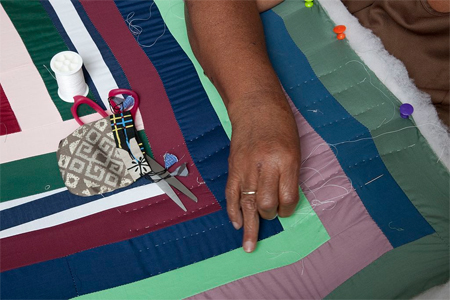 Quilt making in Gee's Bend, Alabama