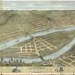 Bird's eye view of the city of Wheeling, West Virginia 1870
