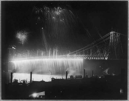 Opening of Williamsburg Bridge, New York City