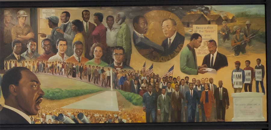 Detail from the King mural, District of Columbia Public Library