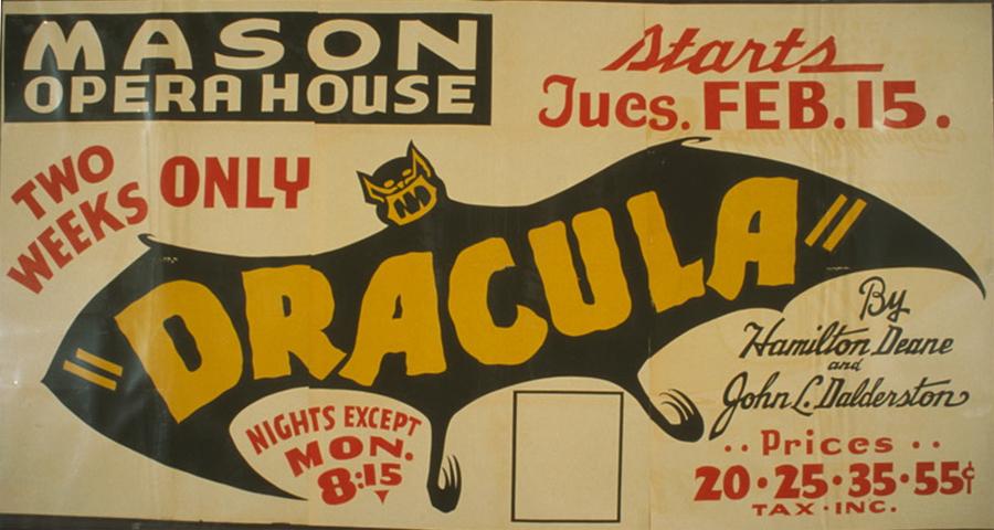 """Dracula"" by Hamilton Deane and John L. Dalderston  [i.e. Balderston]"