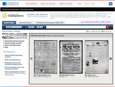 Advanced Search Tips: Chronicling America Historic Newspapers
