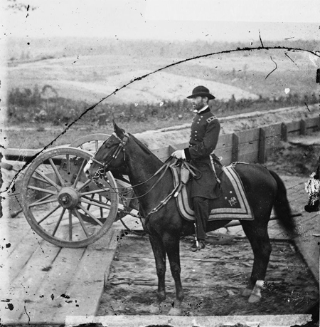 Gen. William T. Sherman on horseback