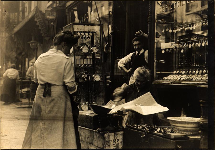Italian shop on Mott Street, New York City